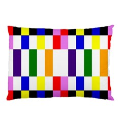 Rainbow Color Blocks Red Orange Pillow Case (two Sides) by Nexatart