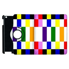 Rainbow Color Blocks Red Orange Apple Ipad 2 Flip 360 Case by Nexatart