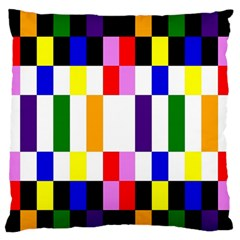 Rainbow Color Blocks Red Orange Standard Flano Cushion Case (two Sides) by Nexatart