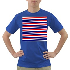 Red White Blue Patriotic Ribbons Dark T Shirt