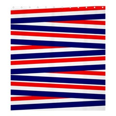 Red White Blue Patriotic Ribbons Shower Curtain 66  X 72  (large)