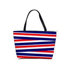 Red White Blue Patriotic Ribbons Shoulder Handbags