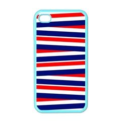 Red White Blue Patriotic Ribbons Apple Iphone 4 Case (color) by Nexatart