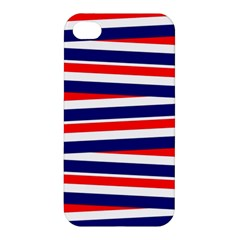 Red White Blue Patriotic Ribbons Apple Iphone 4/4s Hardshell Case by Nexatart