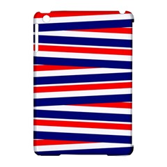 Red White Blue Patriotic Ribbons Apple Ipad Mini Hardshell Case (compatible With Smart Cover) by Nexatart