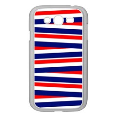 Red White Blue Patriotic Ribbons Samsung Galaxy Grand Duos I9082 Case (white)