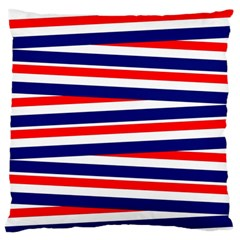 Red White Blue Patriotic Ribbons Standard Flano Cushion Case (one Side)