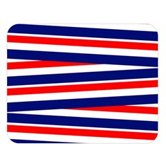 Red White Blue Patriotic Ribbons Double Sided Flano Blanket (large)  by Nexatart