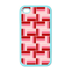 Pink Red Burgundy Pattern Stripes Apple Iphone 4 Case (color) by Nexatart