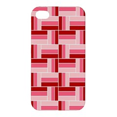 Pink Red Burgundy Pattern Stripes Apple Iphone 4/4s Premium Hardshell Case