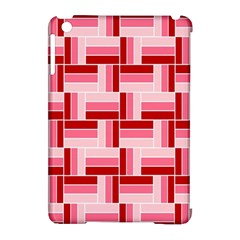 Pink Red Burgundy Pattern Stripes Apple Ipad Mini Hardshell Case (compatible With Smart Cover) by Nexatart