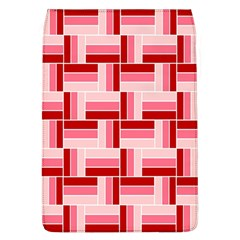Pink Red Burgundy Pattern Stripes Flap Covers (l)  by Nexatart