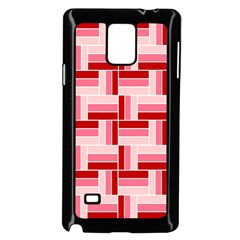 Pink Red Burgundy Pattern Stripes Samsung Galaxy Note 4 Case (black)