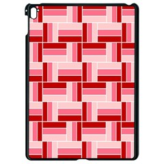 Pink Red Burgundy Pattern Stripes Apple Ipad Pro 9 7   Black Seamless Case by Nexatart