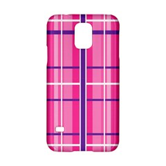 Gingham Hot Pink Navy White Samsung Galaxy S5 Hardshell Case