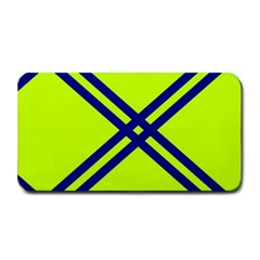 Stripes Angular Diagonal Lime Green Medium Bar Mats