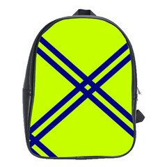 Stripes Angular Diagonal Lime Green School Bag (large)