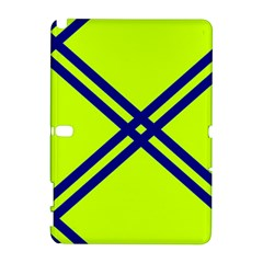 Stripes Angular Diagonal Lime Green Galaxy Note 1