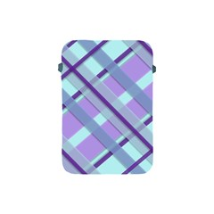Diagonal Plaid Gingham Stripes Apple Ipad Mini Protective Soft Cases by Nexatart