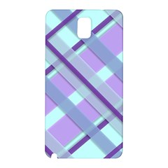 Diagonal Plaid Gingham Stripes Samsung Galaxy Note 3 N9005 Hardshell Back Case