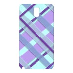 Diagonal Plaid Gingham Stripes Samsung Galaxy Note 3 N9005 Hardshell Back Case Front