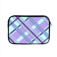 Diagonal Plaid Gingham Stripes Apple Macbook Pro 15  Zipper Case by Nexatart