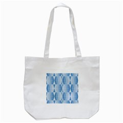 Blue Monochrome Geometric Design Tote Bag (white)