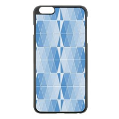 Blue Monochrome Geometric Design Apple Iphone 6 Plus/6s Plus Black Enamel Case