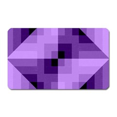 Purple Geometric Cotton Fabric Magnet (rectangular)