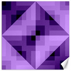 Purple Geometric Cotton Fabric Canvas 12  X 12   by Nexatart