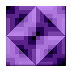 Purple Geometric Cotton Fabric Face Towel