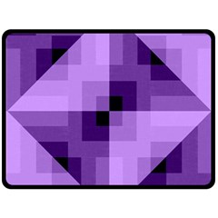 Purple Geometric Cotton Fabric Fleece Blanket (large)  by Nexatart