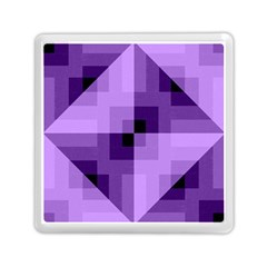Purple Geometric Cotton Fabric Memory Card Reader (square)  by Nexatart