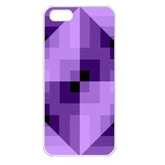 Purple Geometric Cotton Fabric Apple Iphone 5 Seamless Case (white) by Nexatart