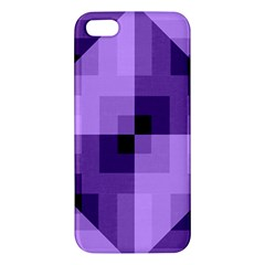 Purple Geometric Cotton Fabric Apple Iphone 5 Premium Hardshell Case