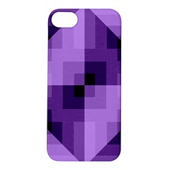Purple Geometric Cotton Fabric Apple Iphone 5s/ Se Hardshell Case by Nexatart