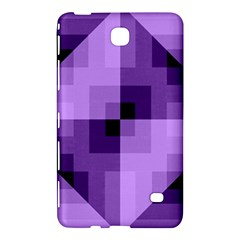 Purple Geometric Cotton Fabric Samsung Galaxy Tab 4 (7 ) Hardshell Case