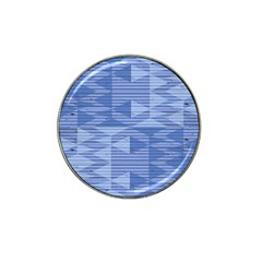 Texture Wood Slats Geometric Aztec Hat Clip Ball Marker (4 Pack)