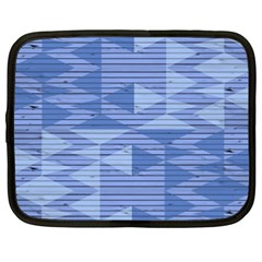 Texture Wood Slats Geometric Aztec Netbook Case (xxl)  by Nexatart