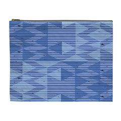 Texture Wood Slats Geometric Aztec Cosmetic Bag (xl) by Nexatart