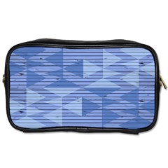 Texture Wood Slats Geometric Aztec Toiletries Bags by Nexatart