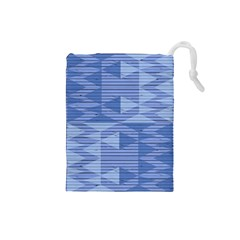 Texture Wood Slats Geometric Aztec Drawstring Pouches (small)