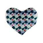 Valentine Valentine S Day Hearts Standard 16  Premium Flano Heart Shape Cushions Front