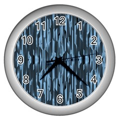 Texture Surface Background Metallic Wall Clocks (silver)  by Nexatart