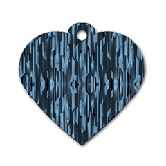 Texture Surface Background Metallic Dog Tag Heart (one Side)
