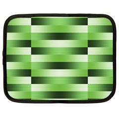 Pinstripes Green Shapes Shades Netbook Case (large) by Nexatart
