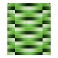 Pinstripes Green Shapes Shades Shower Curtain 60  X 72  (medium)