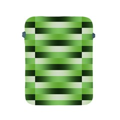 Pinstripes Green Shapes Shades Apple Ipad 2/3/4 Protective Soft Cases by Nexatart