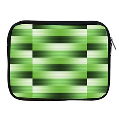 Pinstripes Green Shapes Shades Apple Ipad 2/3/4 Zipper Cases