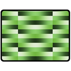 Pinstripes Green Shapes Shades Double Sided Fleece Blanket (large)  by Nexatart